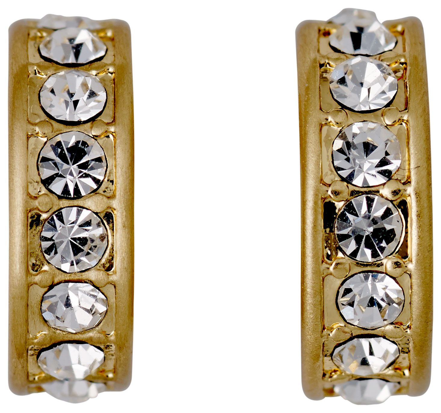 Pilgrim Adema Gold Plated Crystal Earrings, Gold