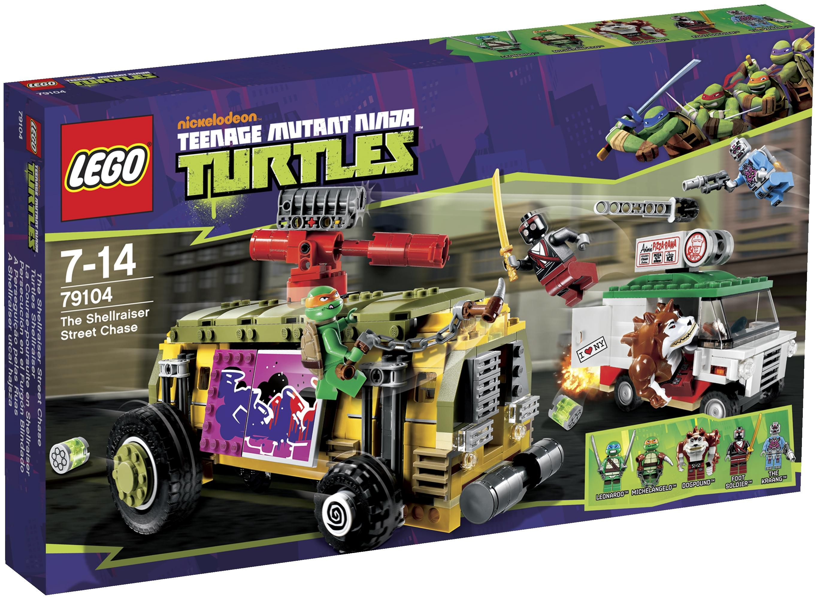 Lego Turtles 79104 The Shellraiser Street Chase