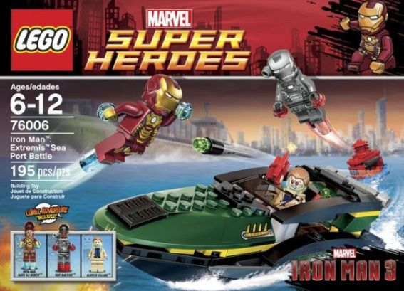 76006 Iron Man Extremis Sea Port Battle