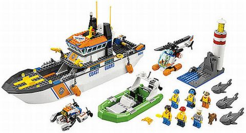 60014 Coast guard patrol Lego