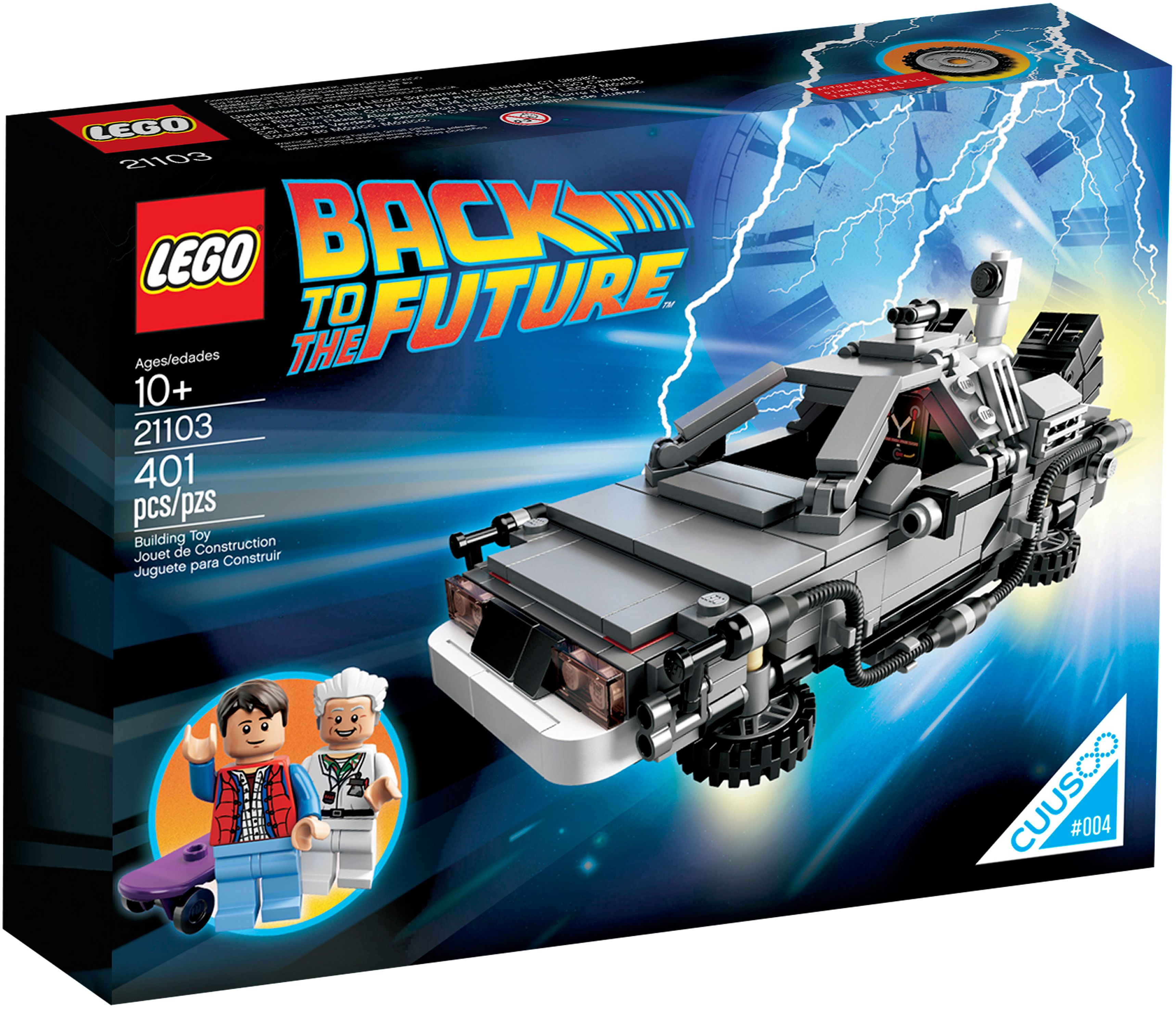 Lego 21103 Back to the Future Car - the Delorean