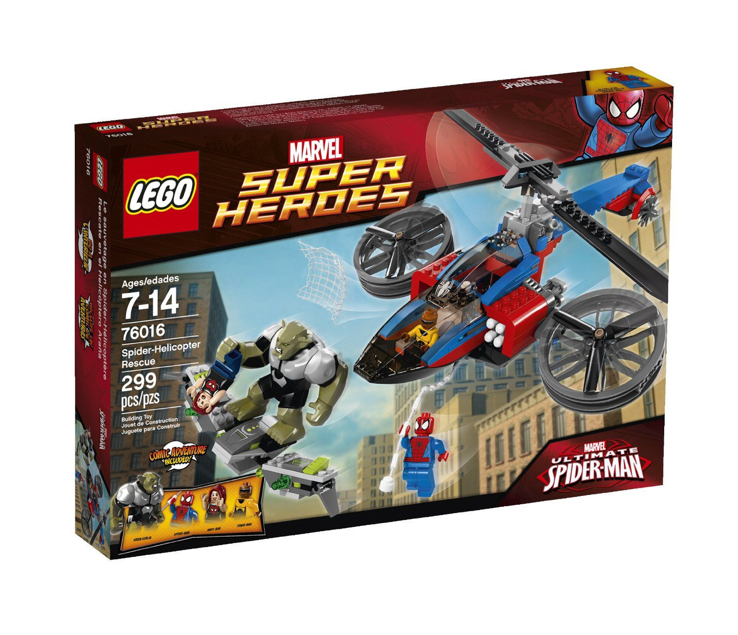 76016 Spiderman Helicopter Rescue