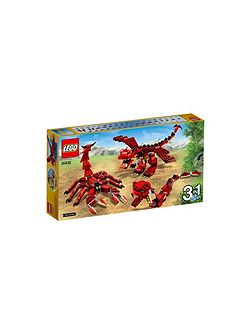 3in1 Red Creatures - 31032