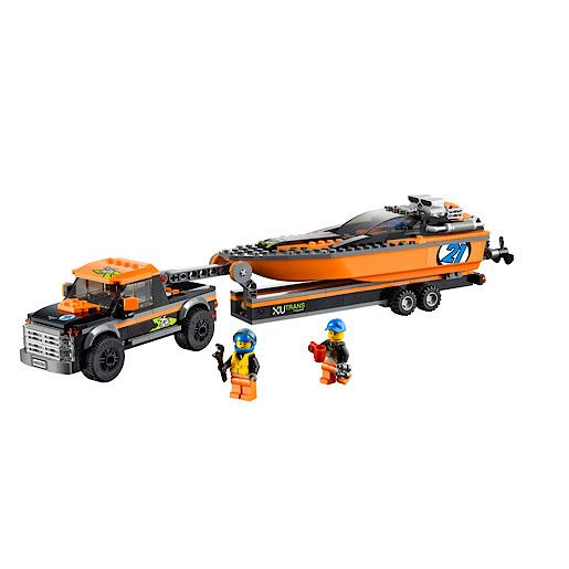 Lego 4X4 With Powerboat 60085