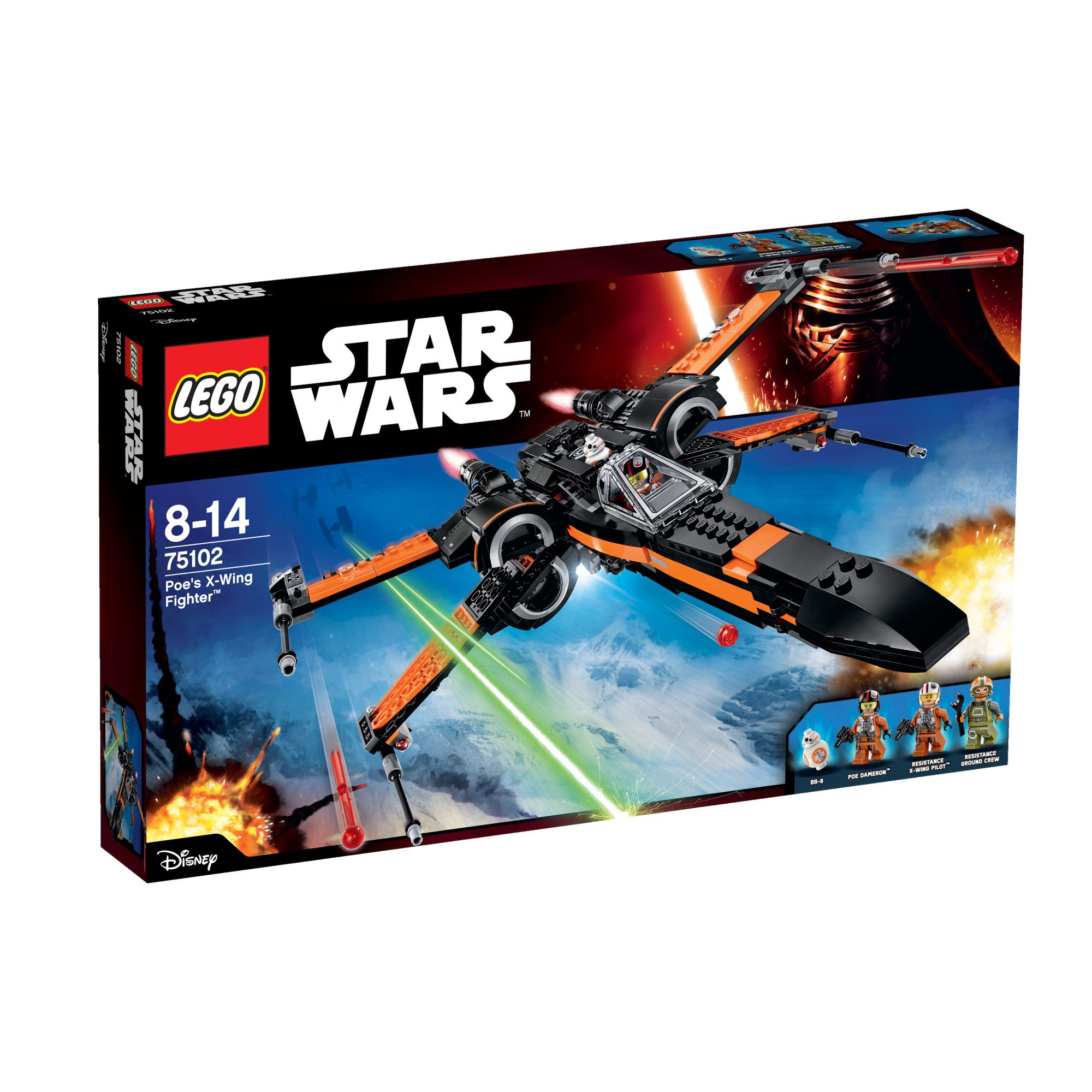 Image of Lego Star Wars Poe`s X-Wing Fighter 75102
