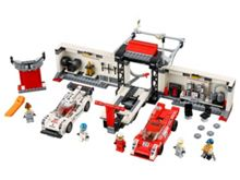 Lego Porsche 919 Hybrid and 917K Pit Lane