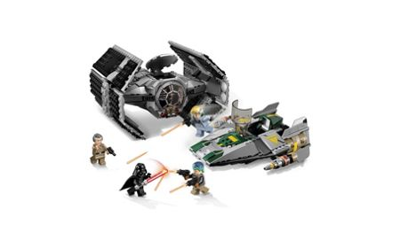 Lego Vader s TIE Advanced vs. A-Wing - 75150