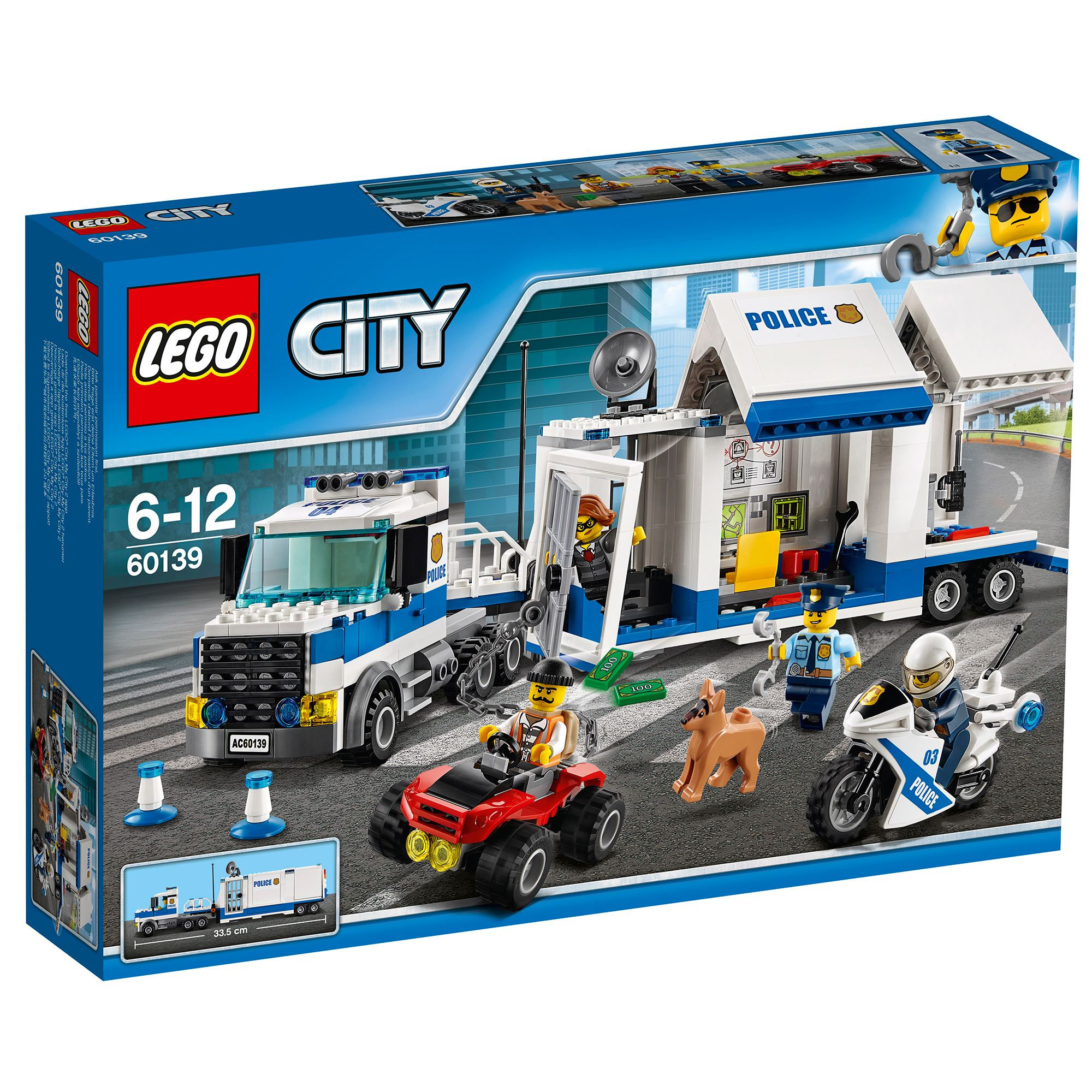 Image of Lego City Police Mobile Command Center 60139