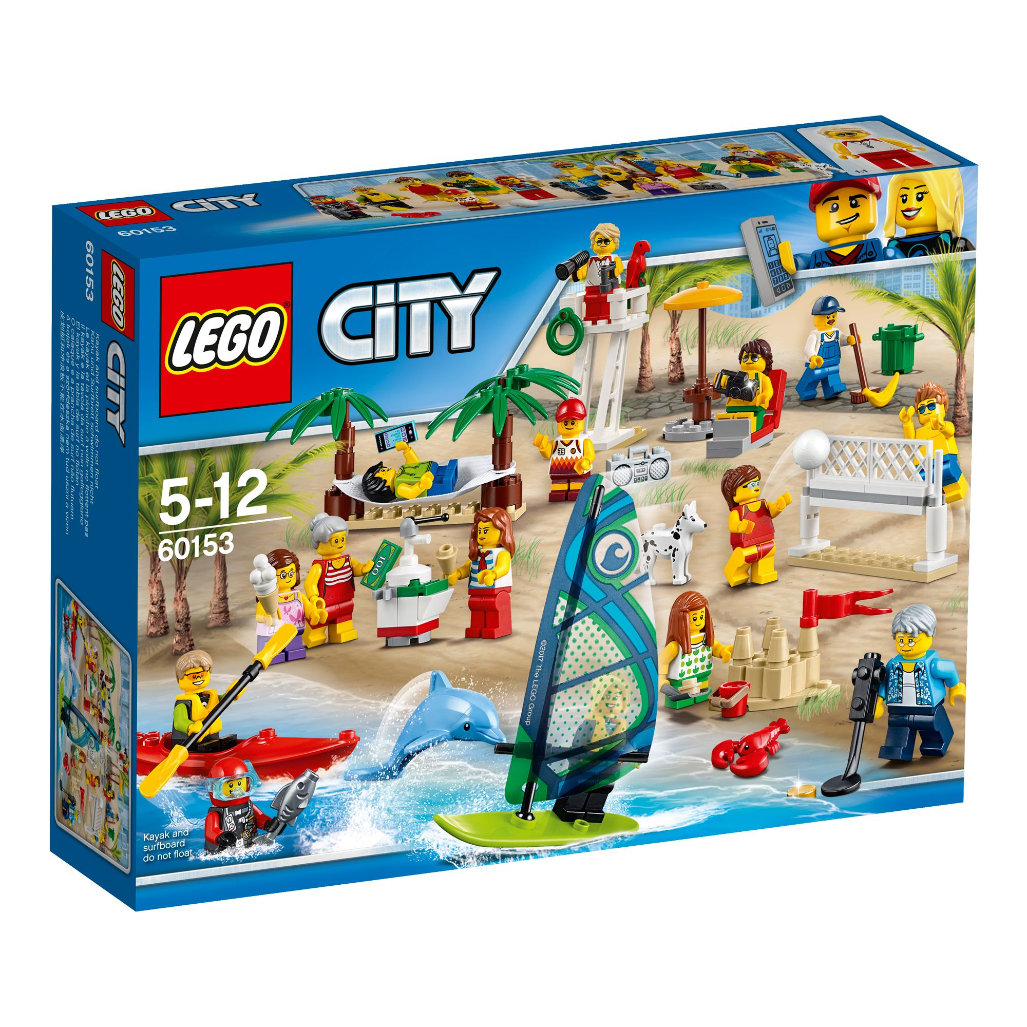 Image of Lego City People Pack Fun At The Beach 60153