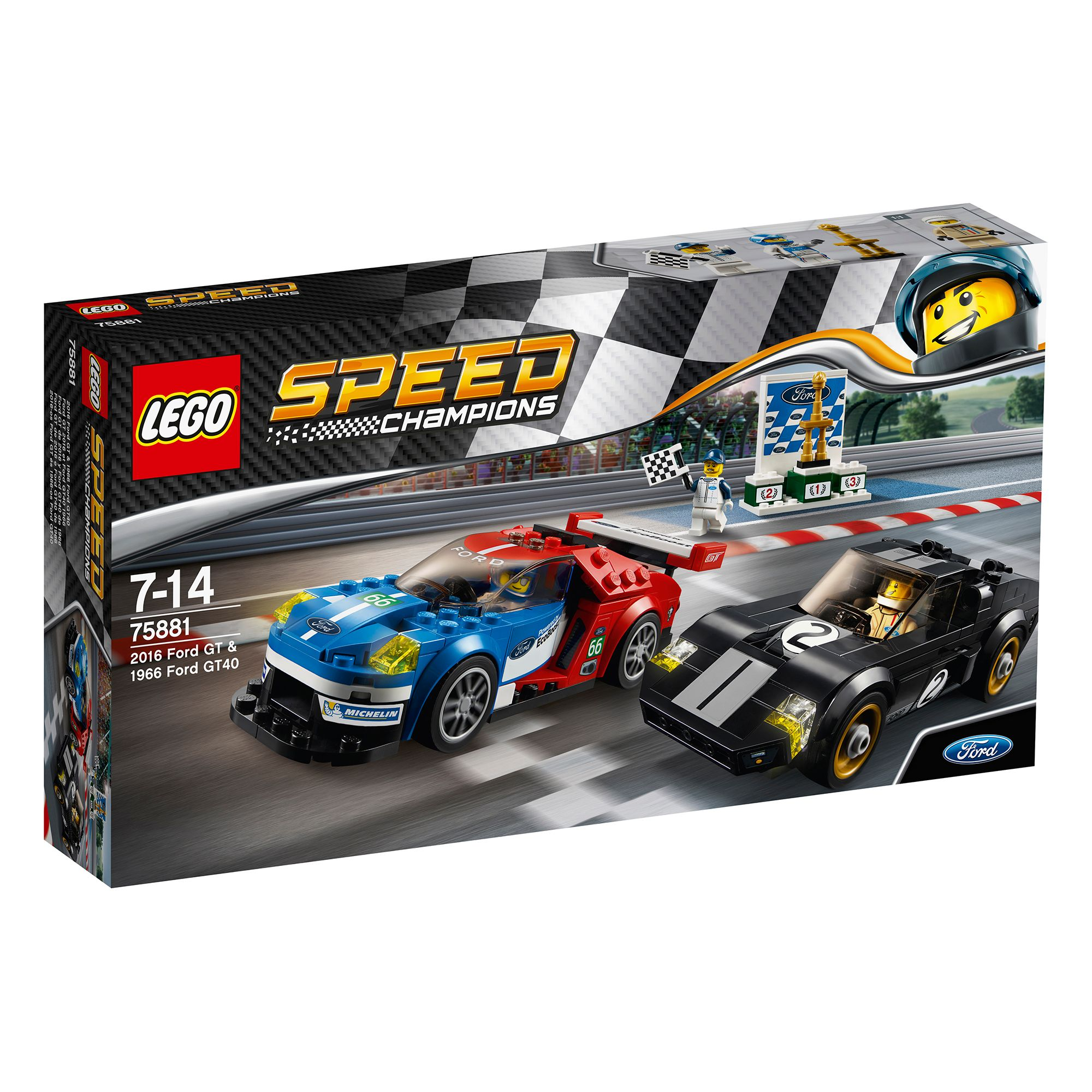 Image of Lego Speed Champions 2016 Ford GT & 1966 Ford