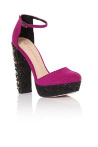 Little Mistress Glitter stone platforms