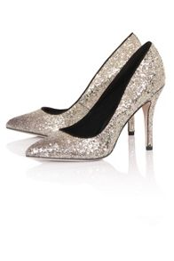 Little Mistress Glitter court shoes