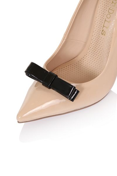 Paper Dolls Tape bow court shoes