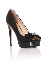 Little Mistress Peep toe bow platforms