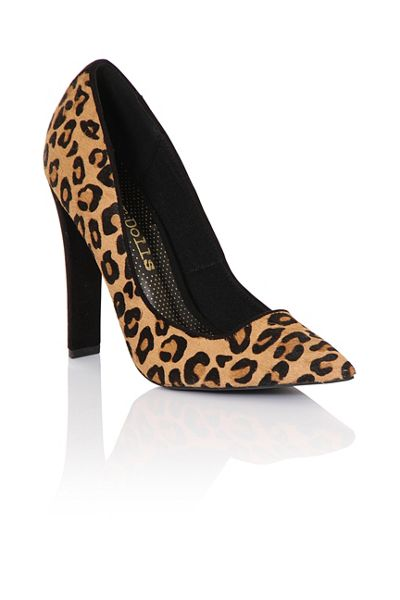 Paper Dolls Leopard court shoes