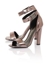 Paper Dolls Clip buckle open toe heels
