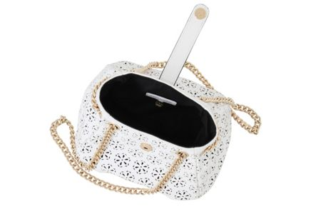 Little Mistress Small cut out chain strap pouch