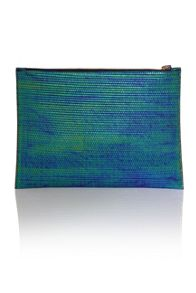 Little Mistress Iridescent flat clutch