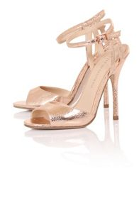 Little Mistress Crackle peep toe heels