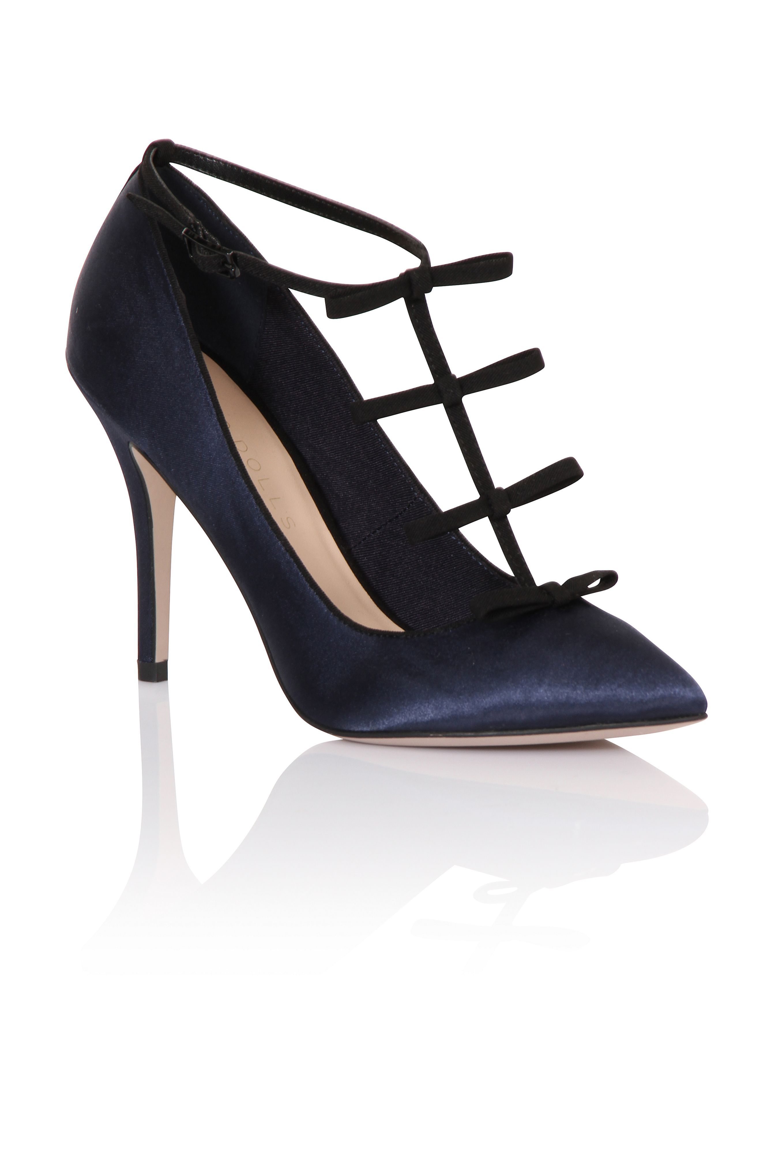 Paper Dolls Paper Dolls Multi bow court shoes, Navy