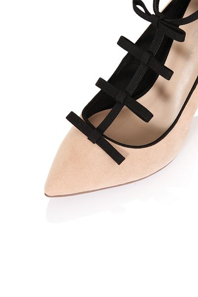 Paper Dolls Multi bow court shoes