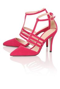 Paper Dolls Cage t-bar court shoes