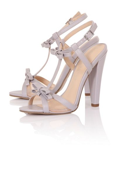 Paper Dolls Bow barely-there heels