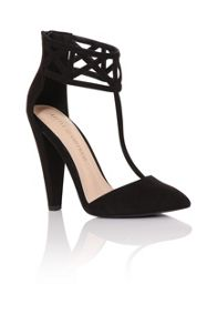 Little Mistress High geo cuff heels