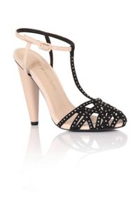 Little Mistress Embellished toe t-bar shoes
