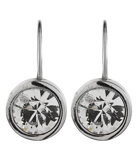 Dyrberg Kern LOUISE Silver Crystal Earrings