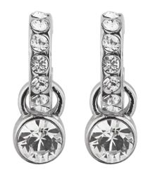 LAURINO Silver Crystal Earrings