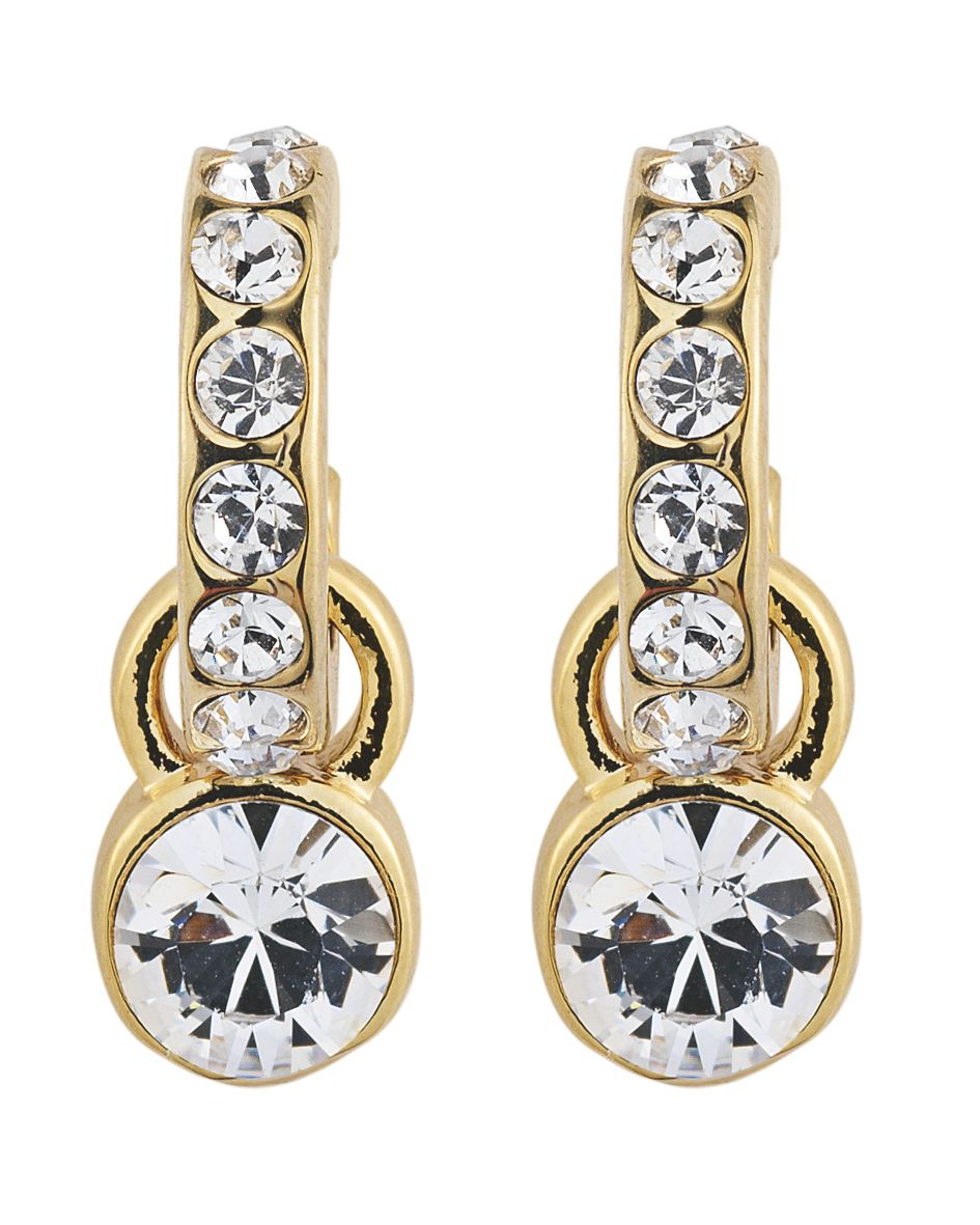 LAURINO Gold Crystal Earrings