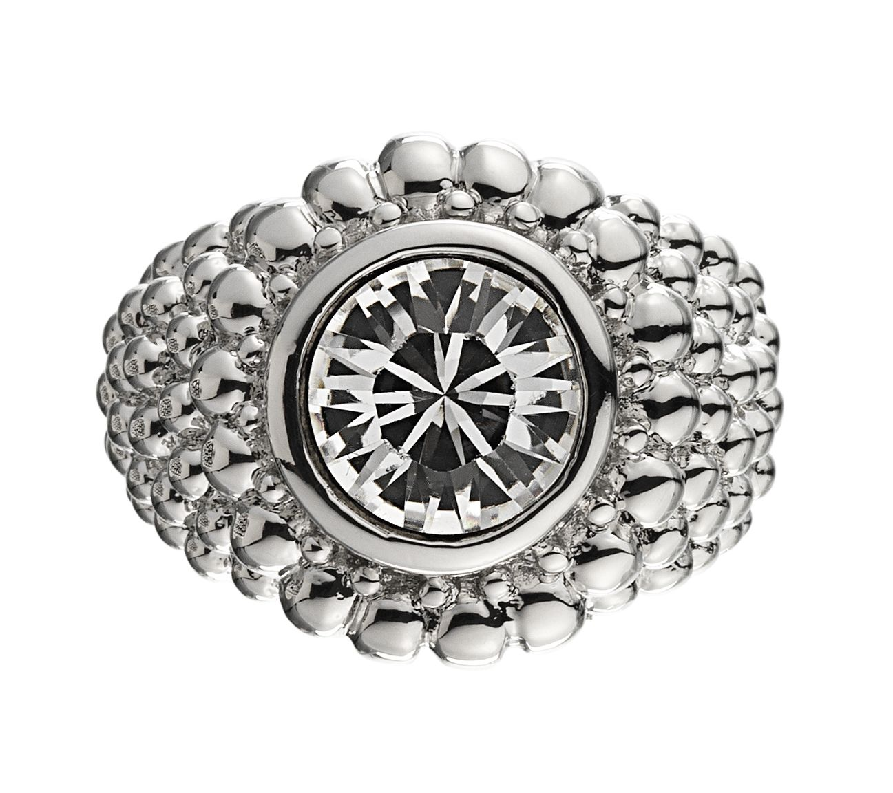 ERTA Silver Crystal Ring