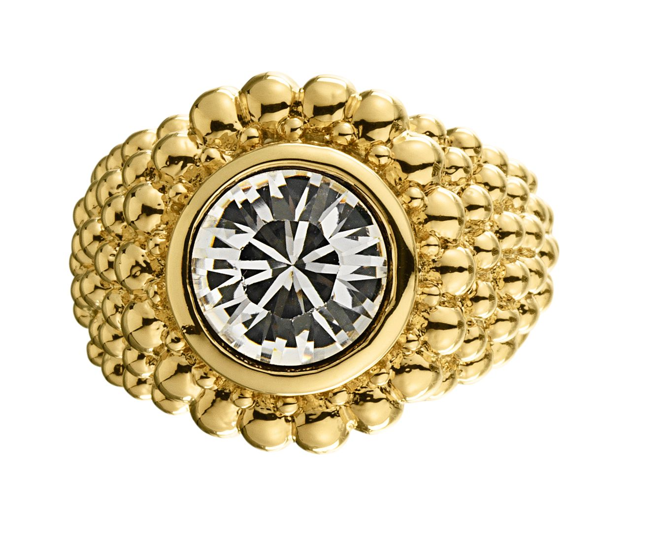 ERTA Gold Crystal Ring