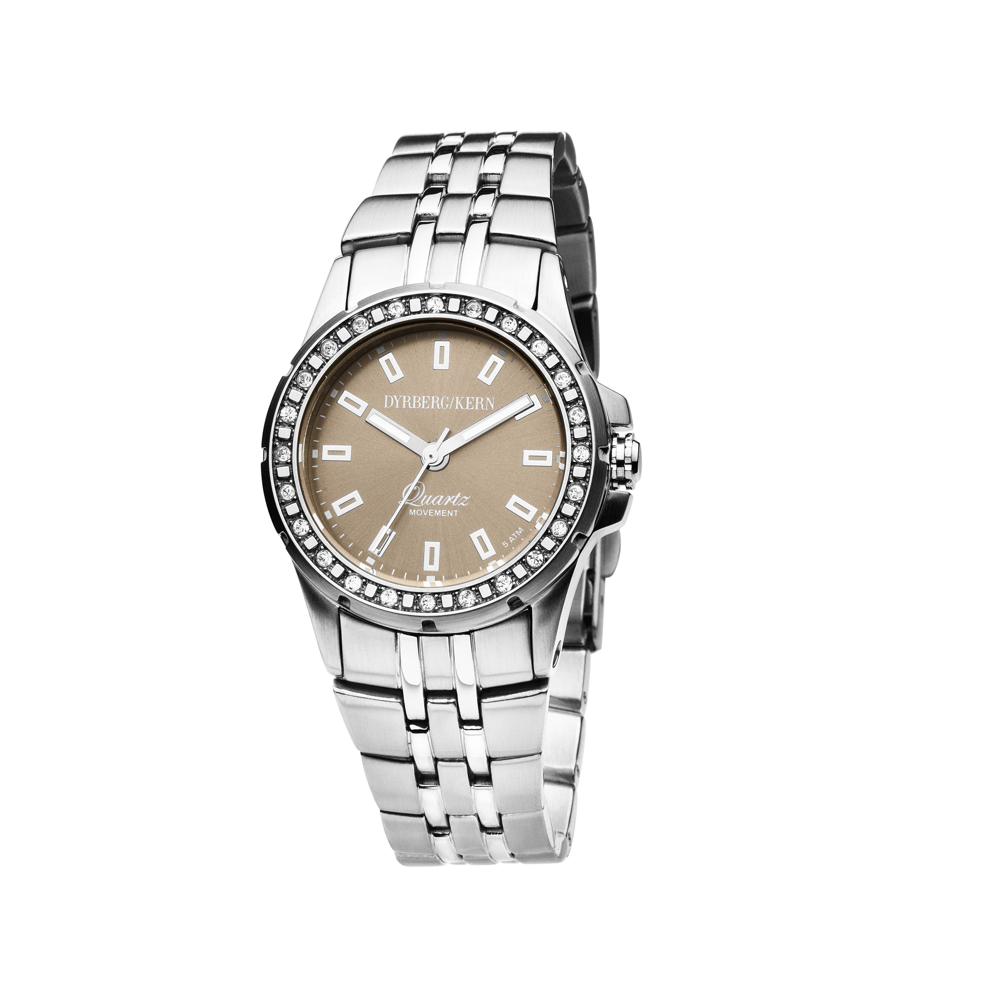 Colette Silver and Brown Ladies Watch