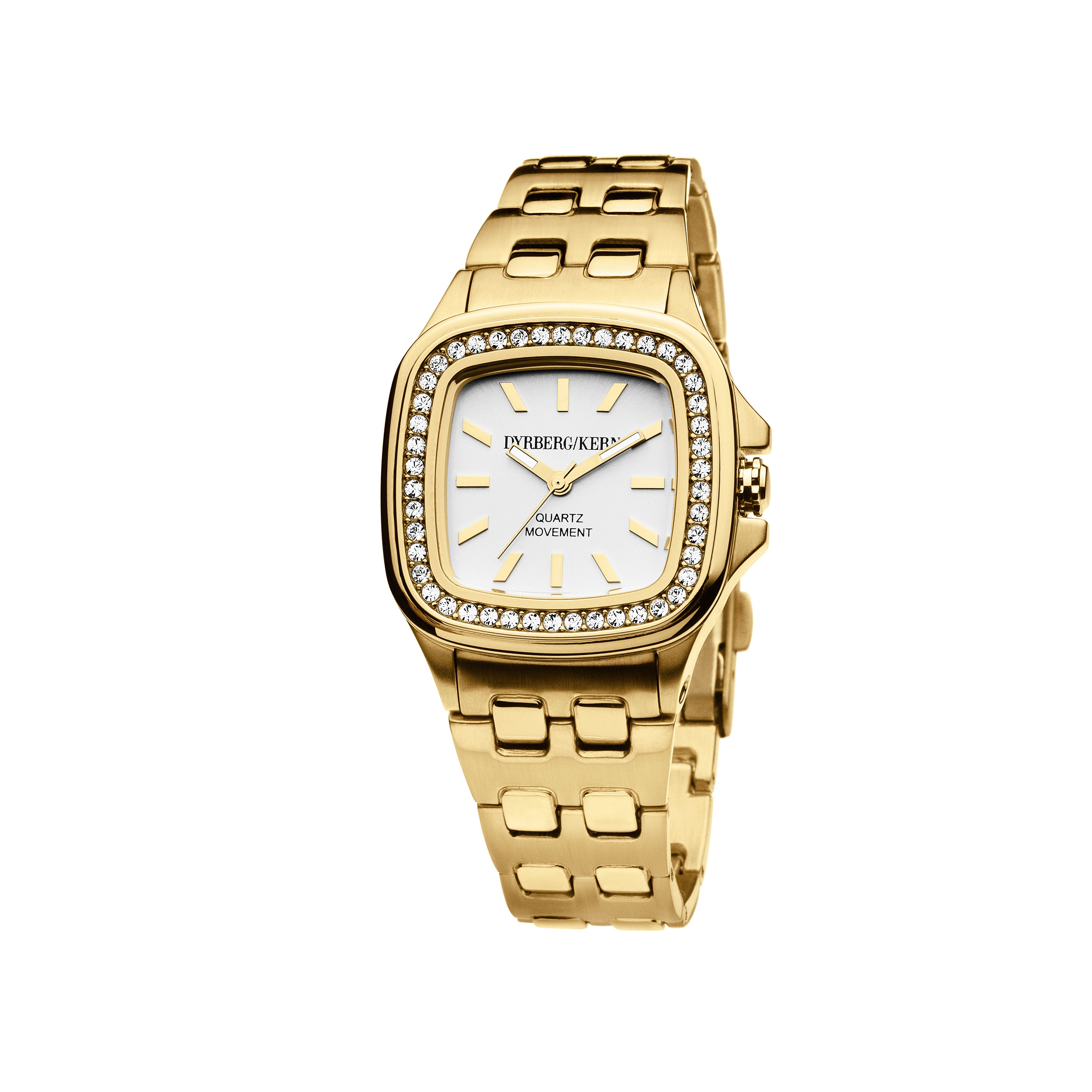 Liberia Gold and White Ladies Watch