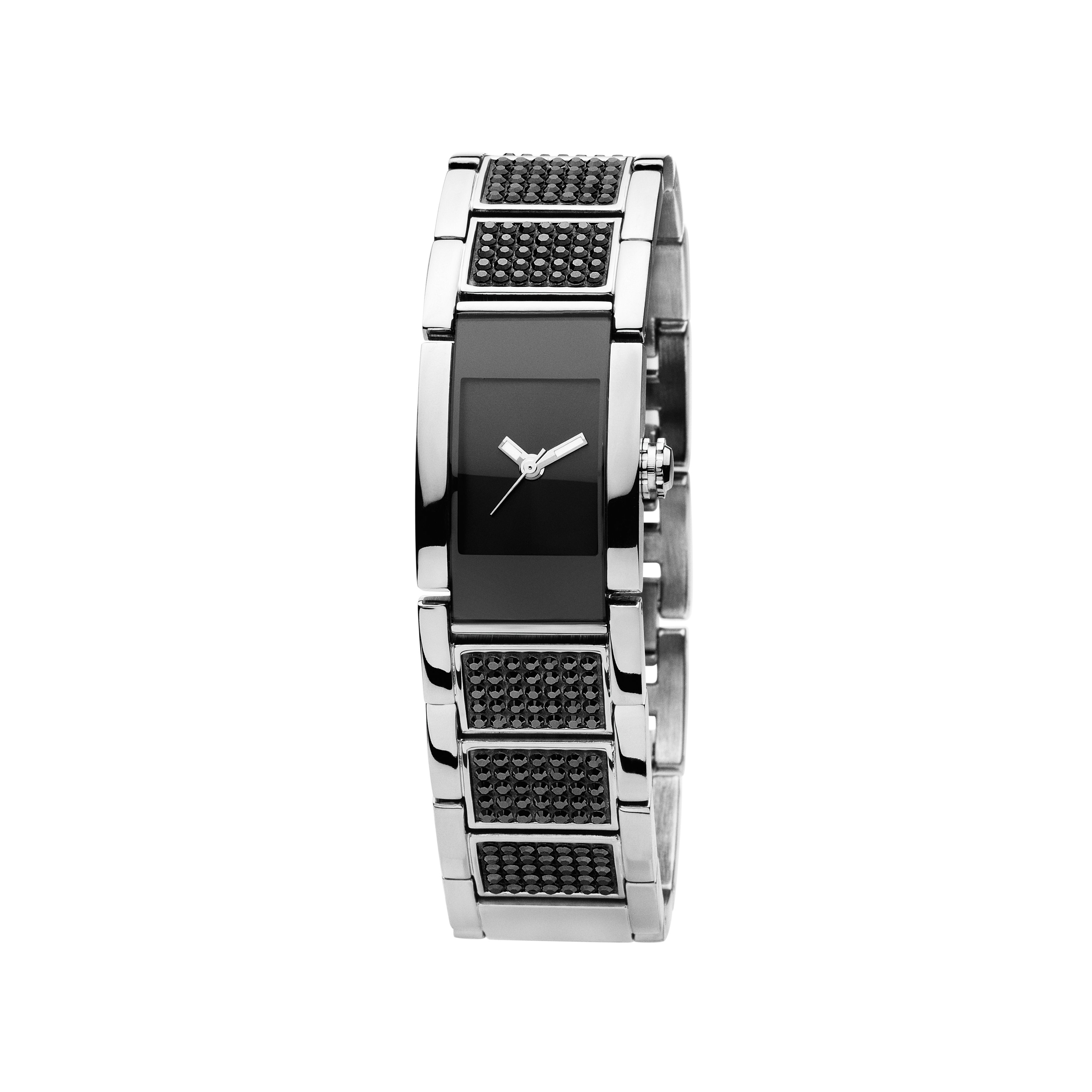 Candice Black and Silver Ladies Watch