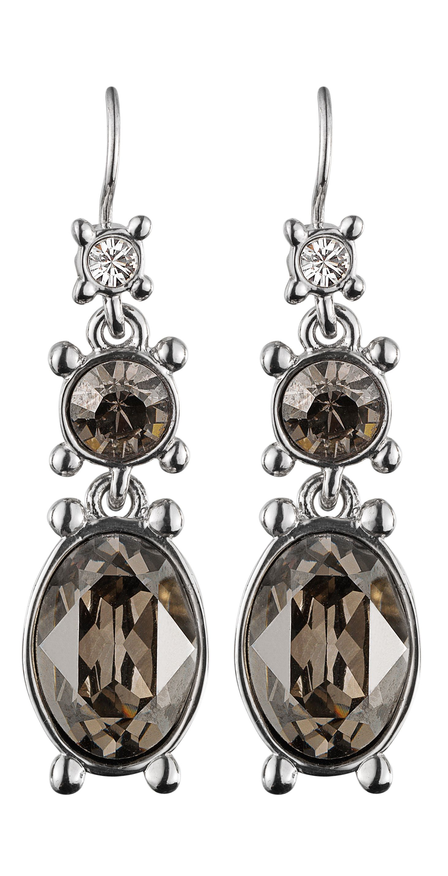 Raine Shiny Silver Satin Earrings