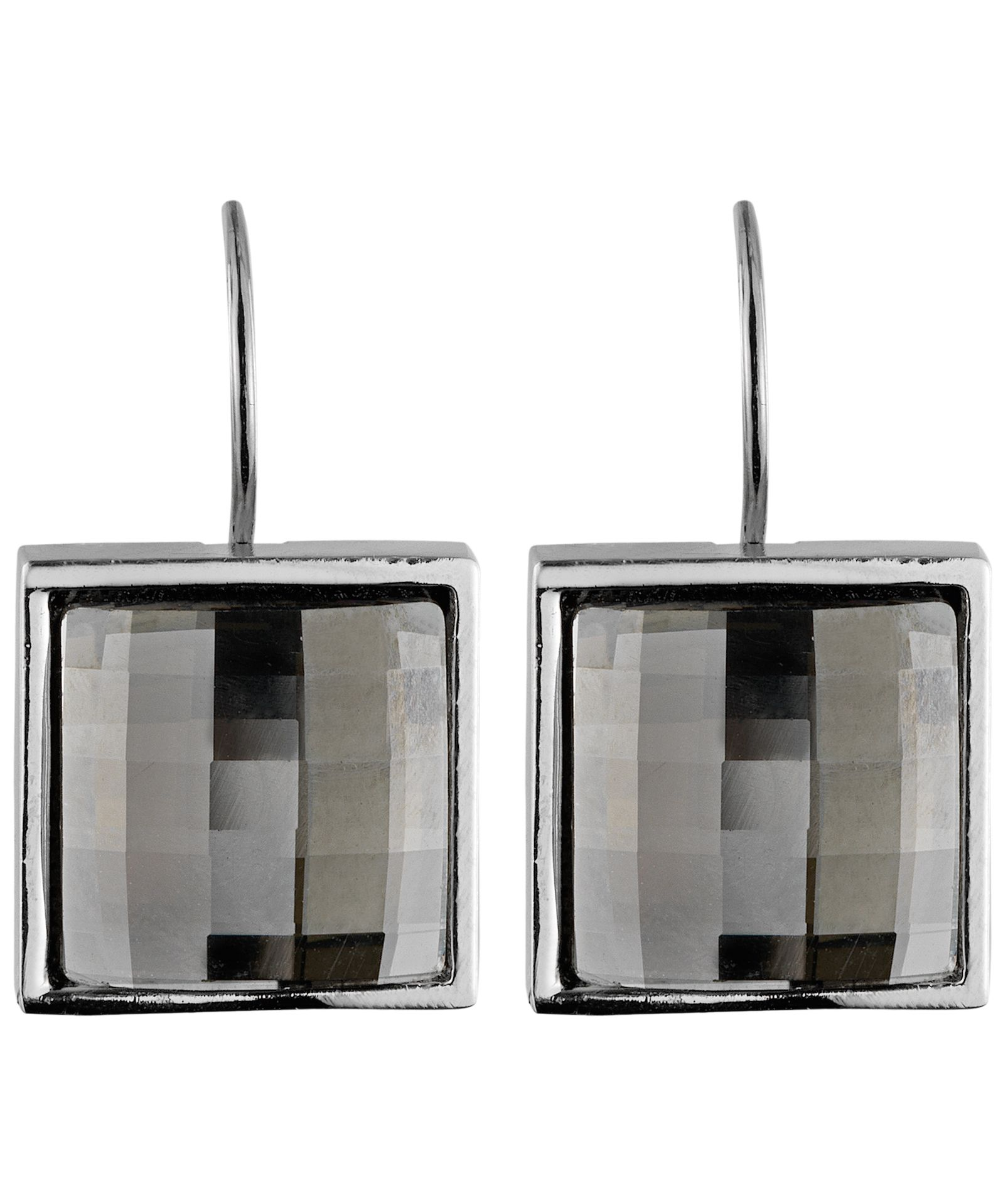 Cohen Silver Satin Earrings