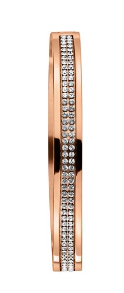 Dyrberg Kern Lorbel Rose Gold Crystal Bangle
