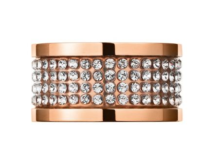 Dyrberg Kern EMILY Rose Gold Crystal Ring