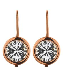 Dyrberg Kern LOUISE Rose Gold Crystal Earrings