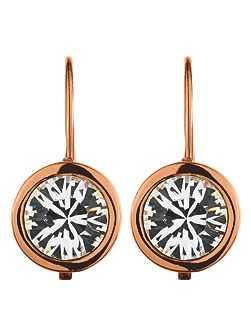 LOUISE Rose Gold Crystal Earrings