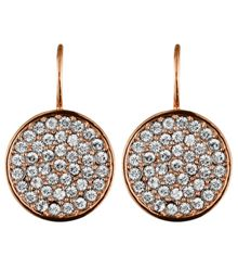 Dyrberg Kern Desria rose gold crystal earrings
