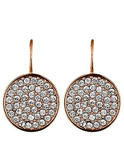 Desria rose gold crystal earrings