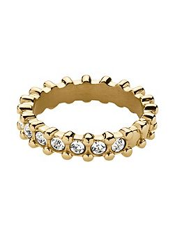 Gafa shiny gold crystal ring