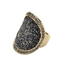 Dyrberg Kern Carly shiny gold grey ring