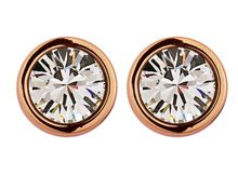 Thelma rose gold crystal earrings