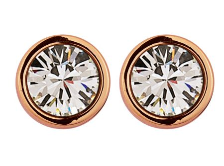 Dyrberg Kern Thelma rose gold crystal earrings