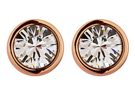 Dyrberg Kern Noble rose gold crystal earrings